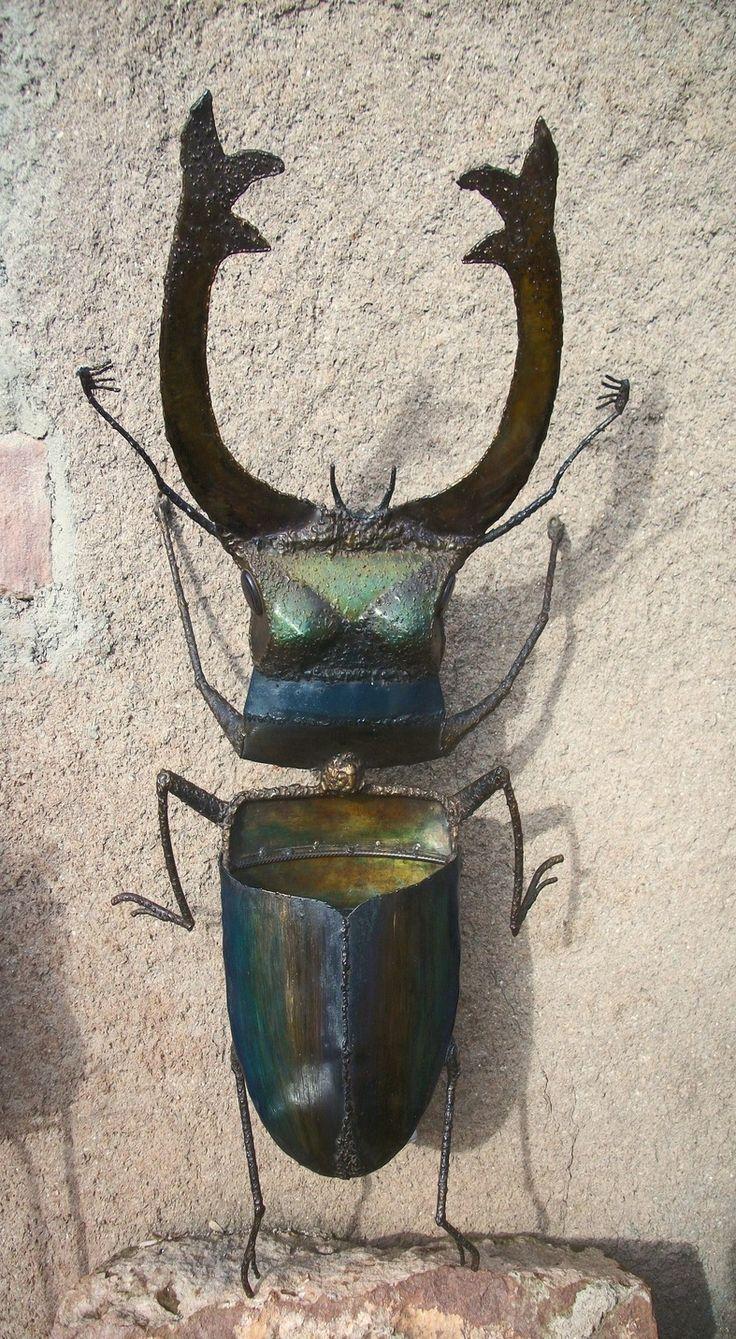 """applique """" Lucane cerf volant """" en métal peint : Luminaires par christian-henelle"""