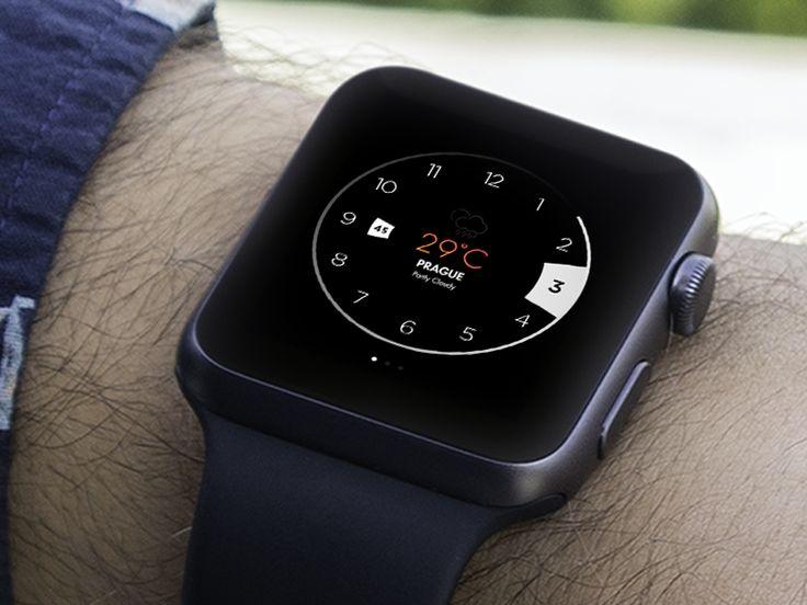 Apple Watch with weather by Lukáš Oslzla