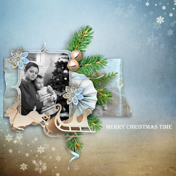 """Sweet-Chick Scrap and Co My page with the kit """"Vintage xmas"""" by bee création"""