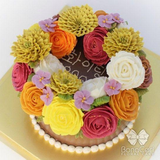 Wreath Style Floral Cake 6 by BonaCeriCakeCakes Mi, Buttercream Cake, Floral Cake, Cake Decor, Cakes I, 543543