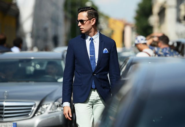 Blue Suit Street Style Blue Blazer Street Style Blue Suit Gq Blue Suit Khaki Pants Blue Tie