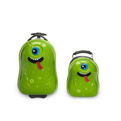 TrendyKid 2 Piece Archie Alien Children's Luggage Set | Wayfair