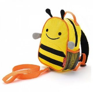 BEE ZOO LET HARNESS - $29.90 - Zoo Harness is a mini backpack with a detachable tether for the smallest travelers. It features friendly Zoo faces, adjustable pack straps, and a top grab handle. #sweetcreations #kids #gifts #designer #skiphop
