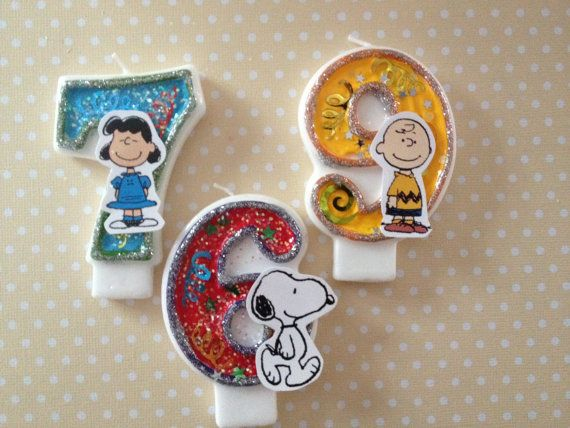Peanuts Charlie Brown Snoopy Birthday Party Number by PartyByDrake