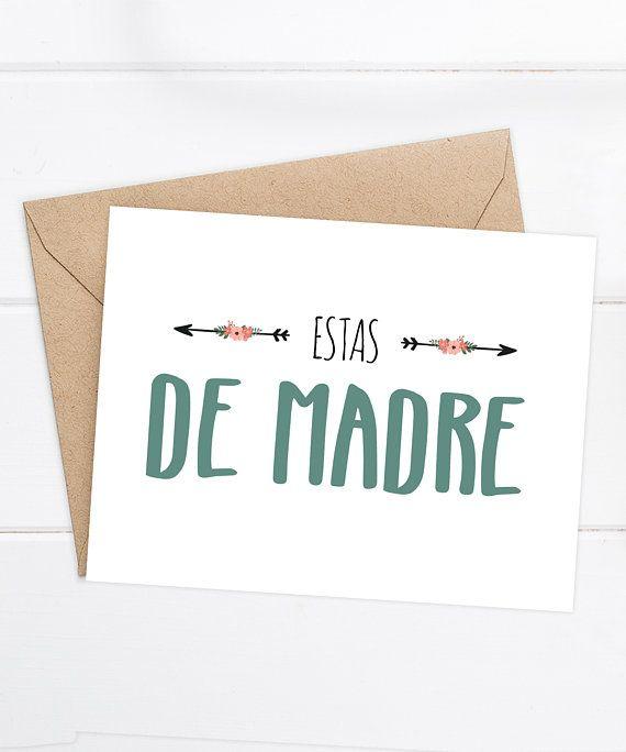 Spanish birthday card spanish love card estas de madre funny spanish birthday card spanish love card estas de madre funny spanish card tarjeta graciosa spanish greeting cards cuban latin spanish m4hsunfo