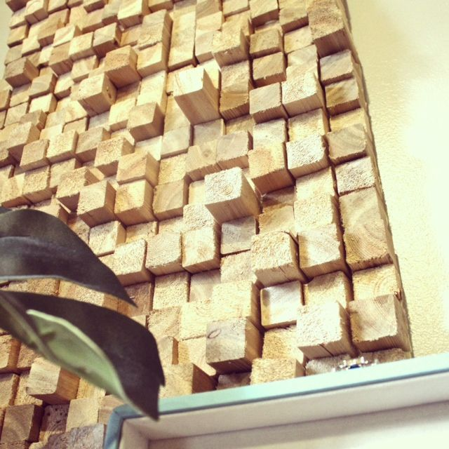 DIY wood art. Fun project to add texture to your space