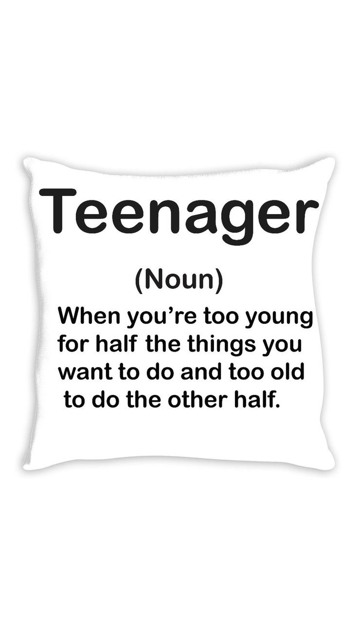 Teenager Throw Pillow