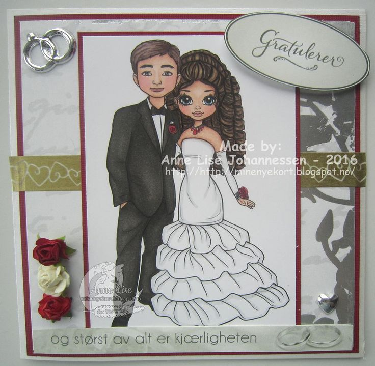 Gorgeous Wedding Card by Anne Lise Johannessen