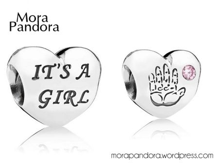 Pandora Baby Girl Charm- Mother's Day 2014 Collection- I asked my college-age daughter for this charm for this Mother's Day [May 11, 2014]...to put next to my Home Sweet Home charm and my Scottie charm because when my daughter was a baby, she and our Westie would play in a plastic Little Tikes house in our backyard for hours.