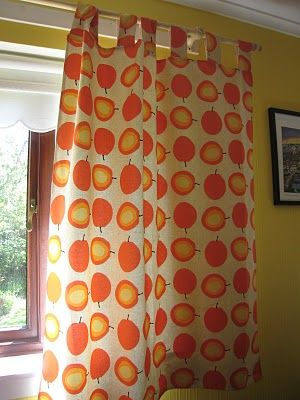 Quick Tab Top Curtain tutorial. Used this to make C's curtains - so easy!