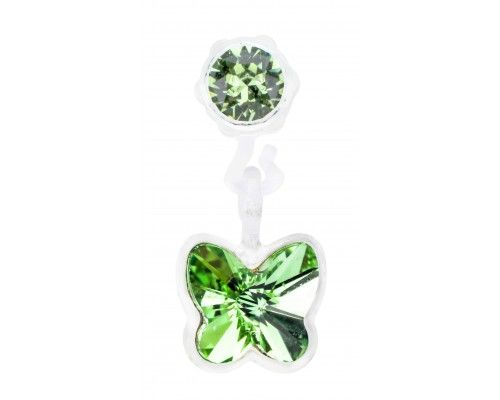 Blomdahl EAR MP, Pendant Butterfly 4/5mm, Peridot