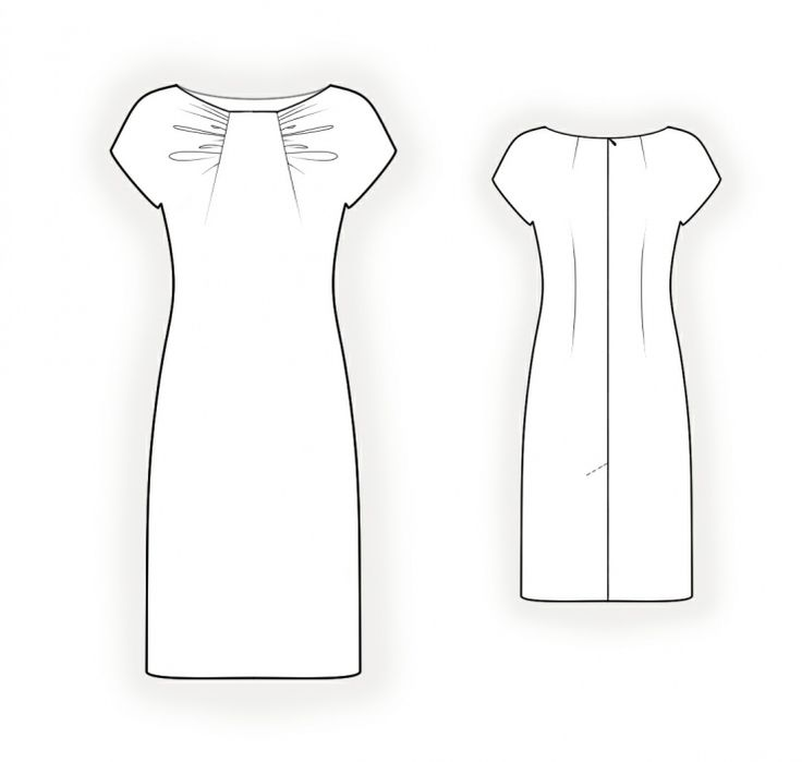 Dress With Draped Bodice - Sewing Pattern #4241
