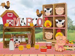Resultado de imagen para centros de mesa de granja