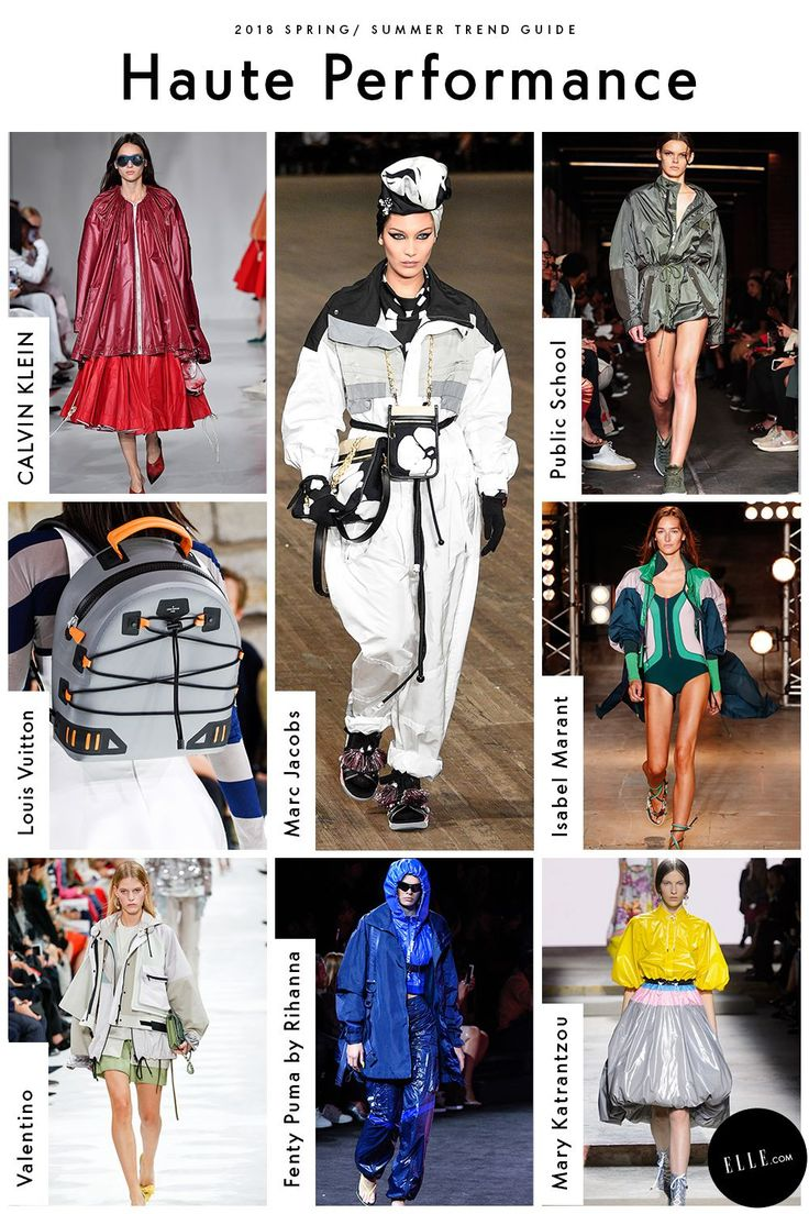 Haute Performance Nylon parkas might fare better while hiking, but the windbreaker is getting the high fashion treatment. The Top Gun textile even made an appearance as a retro skydiving suit, courtesy of of Marc Jacobs, with bungee-laced accessories seen at Louis Vuitton.
