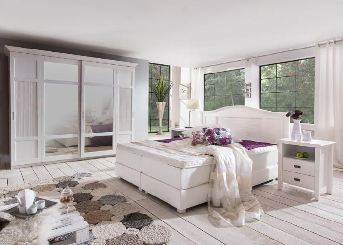25 besten Boxpringbetten Bilder auf Pinterest Möbel discount - schlafzimmer landhausstil weiß
