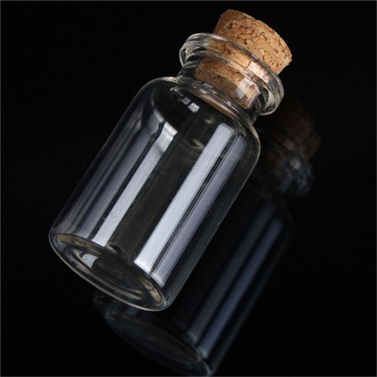 Новый 45 мм х 24 мм 12 мл Высокая Термостойкость SmoothTransparent Небольшой Симпатичный Мини Пробкой Стеклянной Бутылке Флаконе банку Очарование купить на AliExpress
