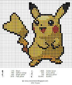 Cross me not: Pikachu  - free cross stitch pattern