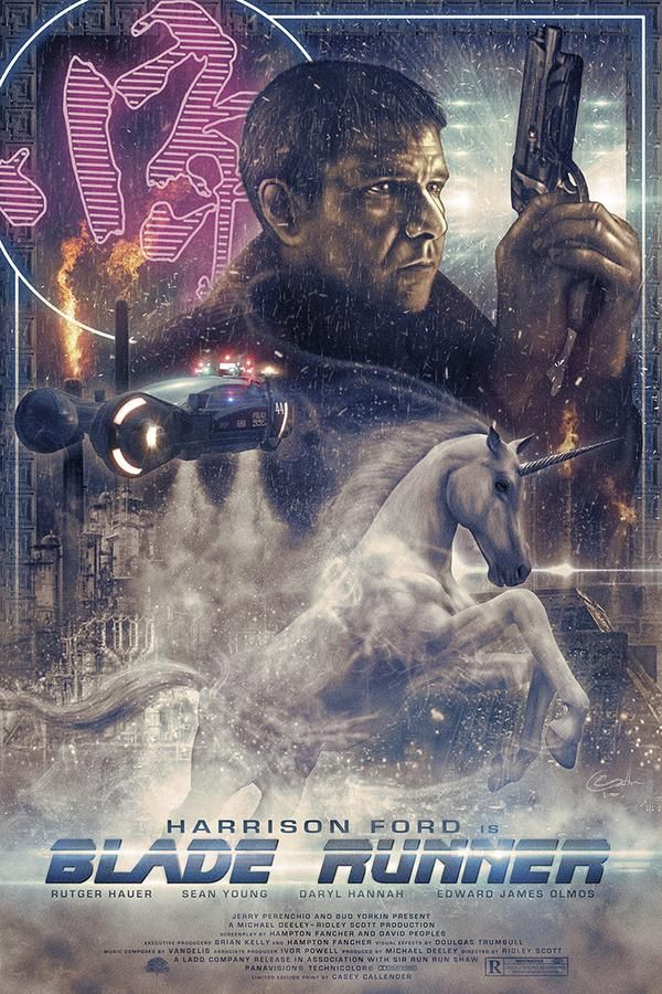 Blade Runner - poster by Casey Callender.