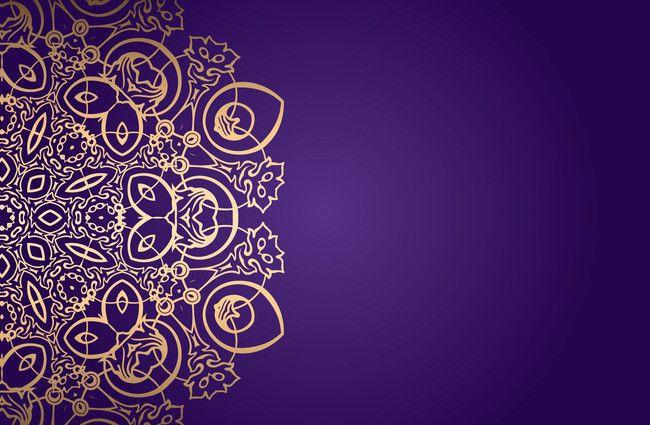 Yang Mulia Dan Romantis Ungu Pola Latar Belakang Kad Jemputan Vektor Art Decoration Graphic Design Background Templates Floral Design