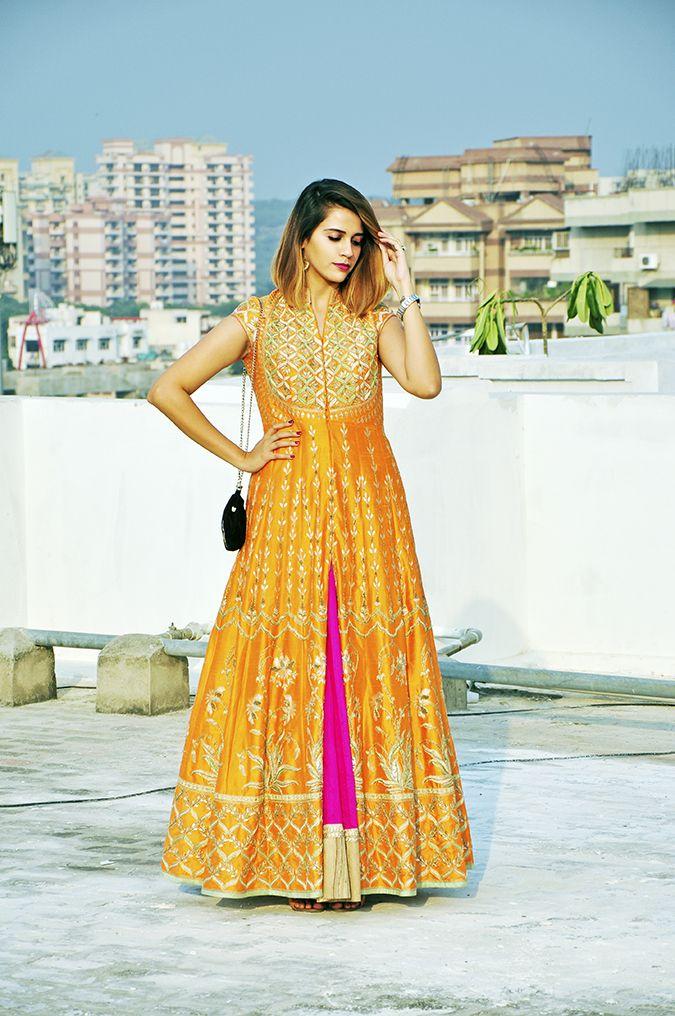 Anita Dongre | Akanksha Redhu | #ootd | full front hand on waist