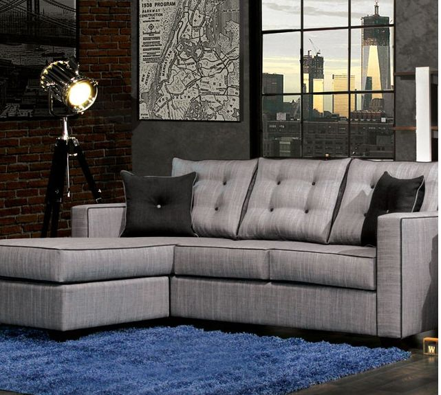 """Ravel II Sectional Sofa - SM8851 Description : Ravel II Sectional Sofa collection. Features : - Available in 2 colors Dimensions : Sectional Sofa : 84""""L X 66""""W X 39""""H py"""