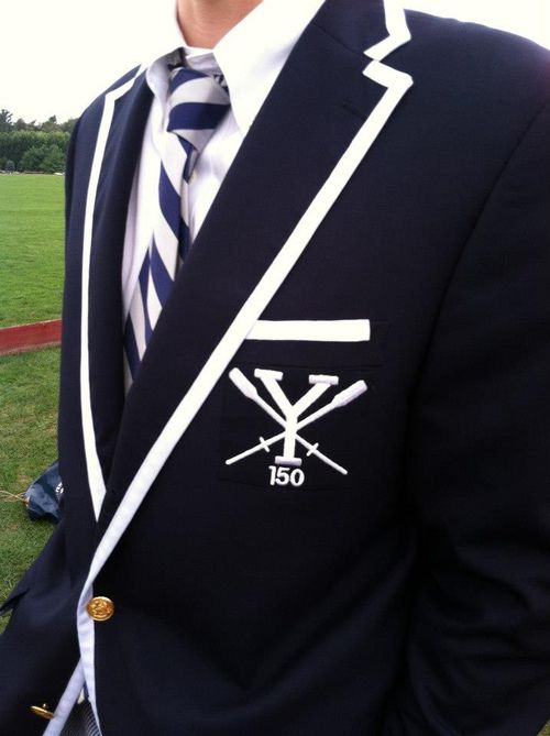 Yale Rowing Blazer with tipped edges.