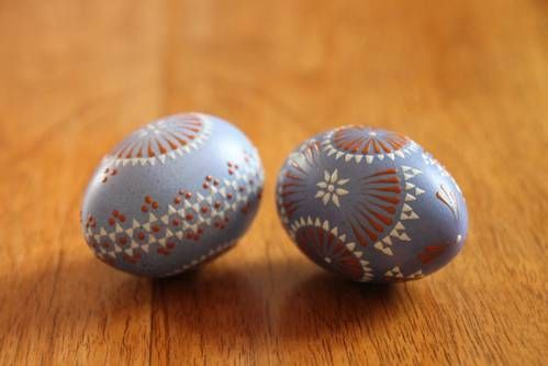 Sorbian easter eggs - with quick how-to