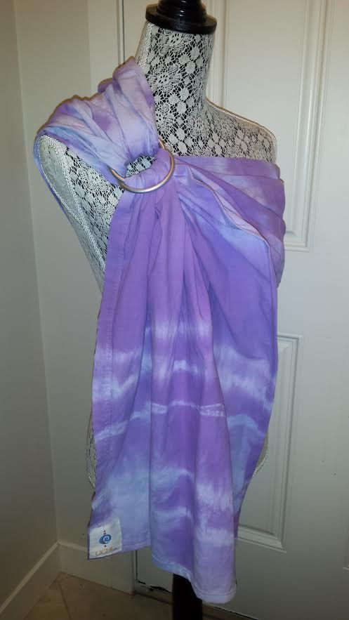 Purple Tie Dyed Ring Sling, OOAK, hand dyed, hot weather sling, SALE by UchiWraps on Etsy