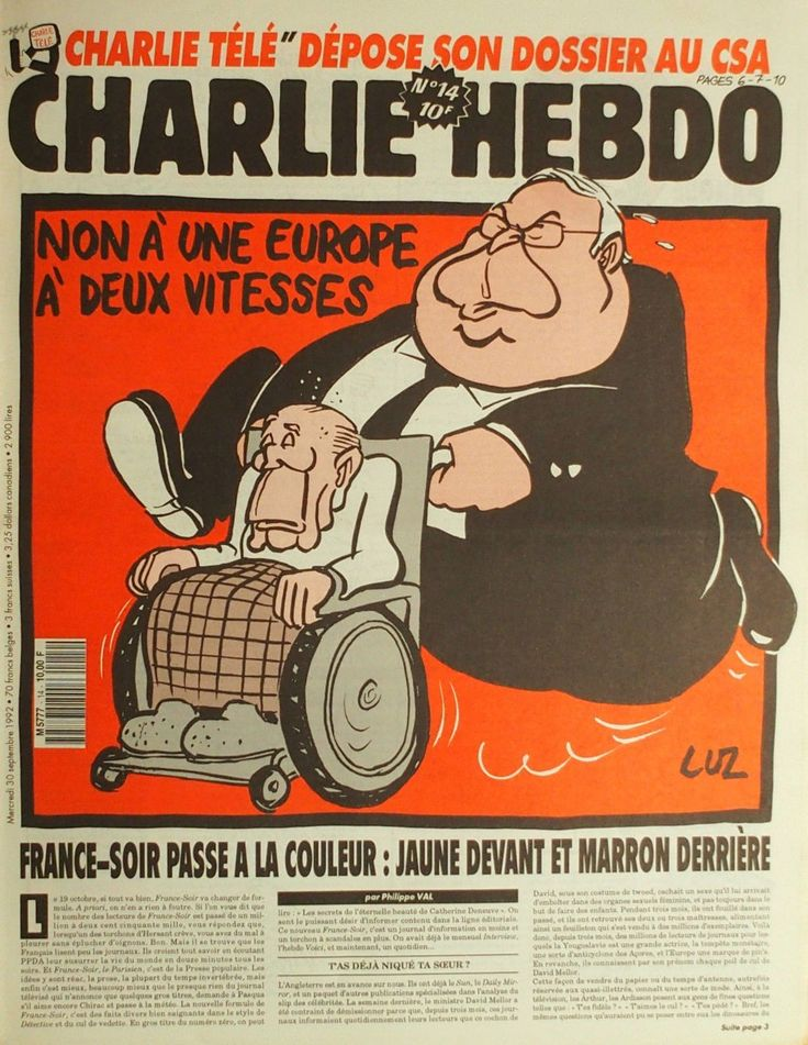 Charlie Hebdo - # 14 - 30 Septembre 1992 - Couverture : Luz