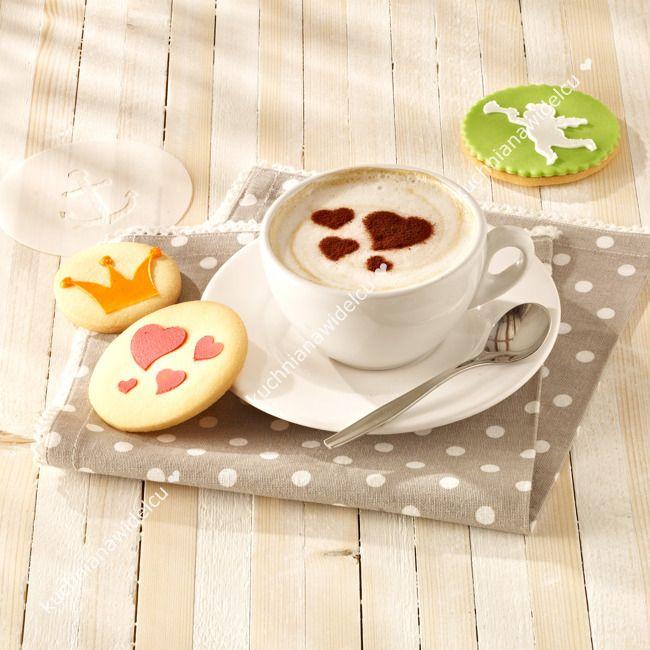 Szablony do dekorowania ciasteczek i kawy - komplet 6 szt | BIRKMANN