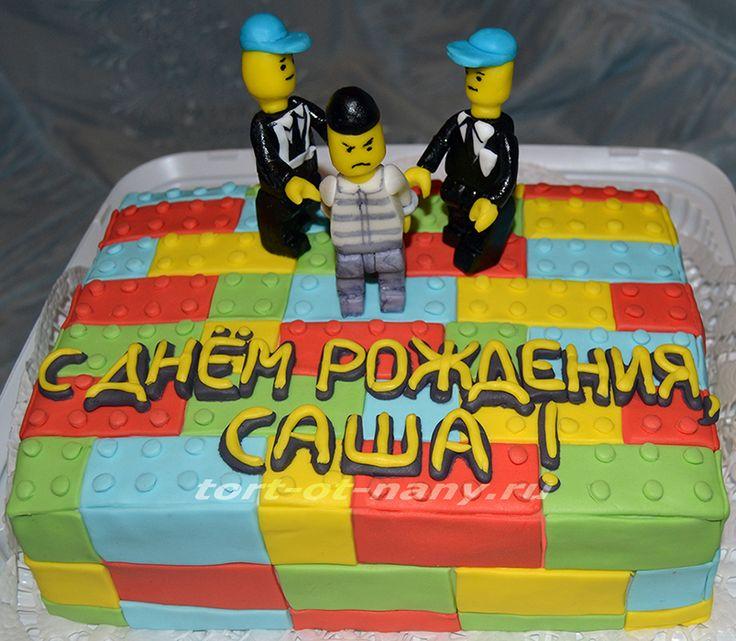 Lego mafia cake - Торт Лего, полицейские и мафия.
