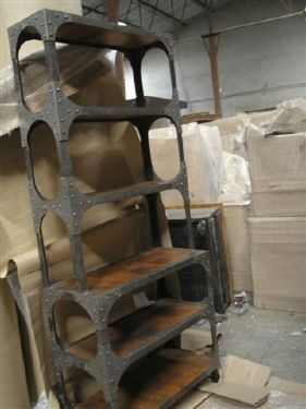 industrial themed furniture. industrial furniture looks like the hubby has a welding project themed