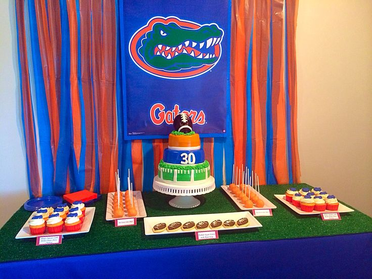 Florida Gators Football Party Dessert Table