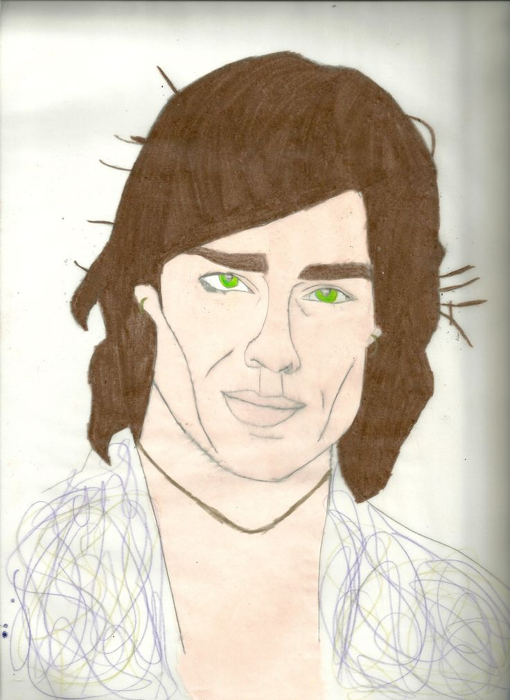 Ronn Moss ( Ridge) Drawing done with prisma color Colored pencils and charcoal pencil
