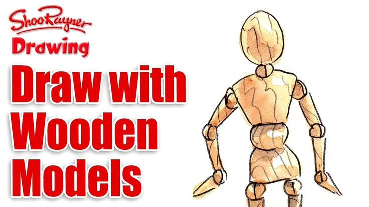 How to draw with wooden mannequin models | Drawing ...