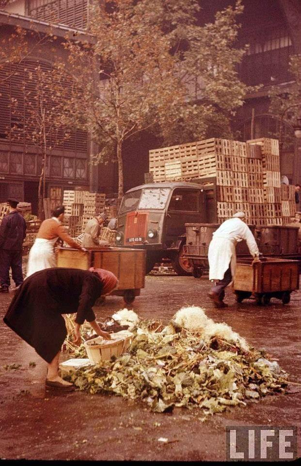 Paris, Les Halles en 1956