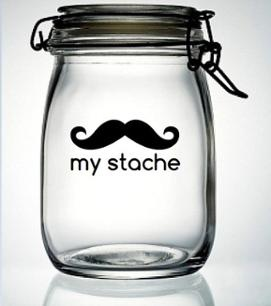 My Stache Mustache Vinyl Decal Sticker - DIY Do It Yourself