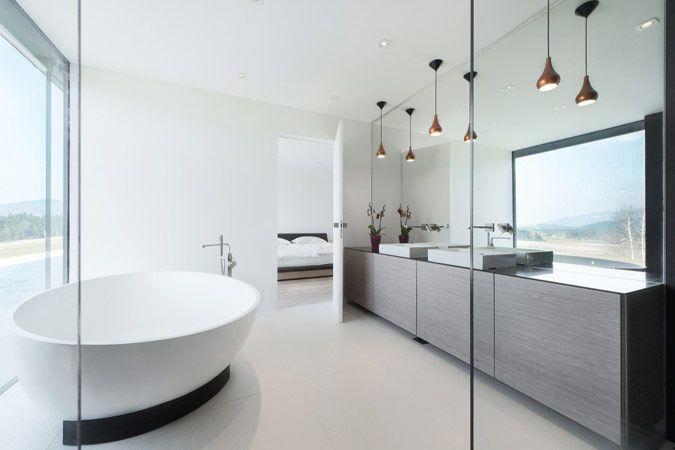 Badkamer meubel, verlichting, sfeer