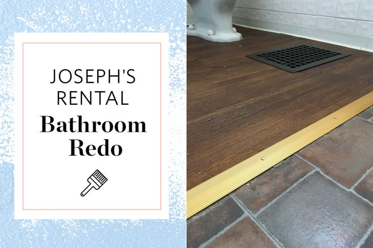1000 ideas about rental bathroom on pinterest rental for Removable flooring for renters