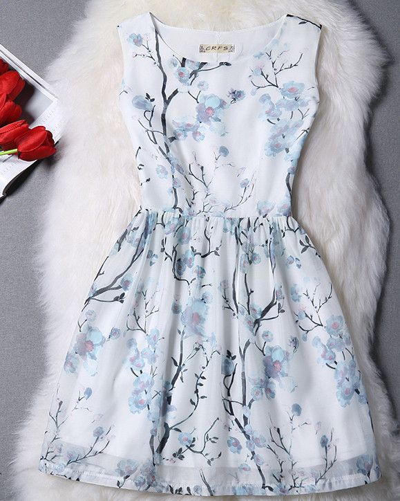 #1026 Floral Print Dress