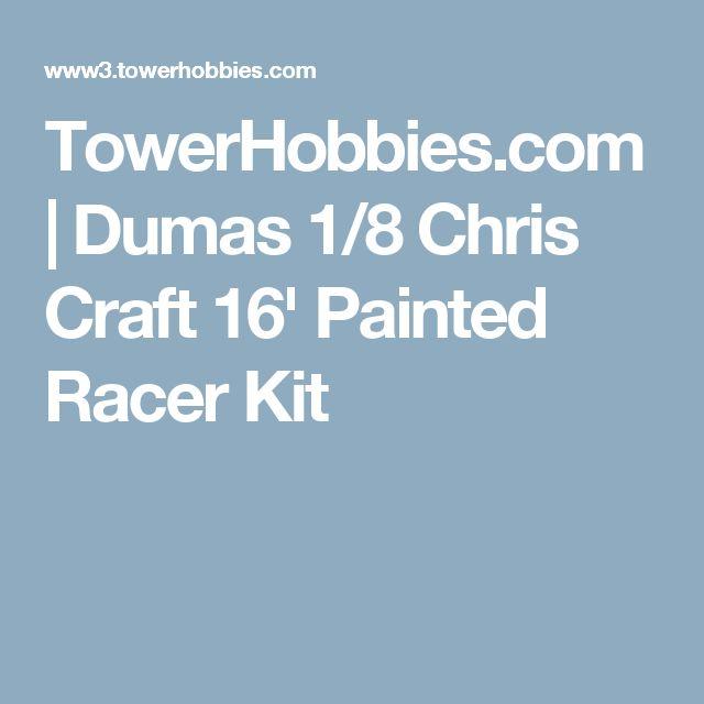 TowerHobbies.com | Dumas 1/8 Chris Craft 16' Painted Racer Kit