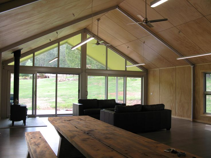 De Atelier Plywood Ceiling And Walls Steel Portal Frame