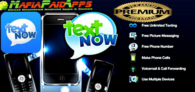TextNow - free text  calls Premium v5.42.0 Apk for Android    TextNow - free text  calls Premium Apk  TextNow - free text  calls Premium is a Social Application for Android  Download last version of TextNow - free text  calls Premium Apk for android from MafiaPaidApps with direct link  Tested By MafiaPidApps  without adverts & license problem  without Lucky patcher & google play the mod   Unlimited FREE texting & calling  free to low-cost international calling!  FREE SMS TEXTING PICTURE…