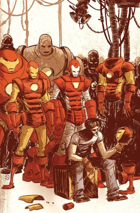 The Master of Machines -- Iron Man by Skottie Young