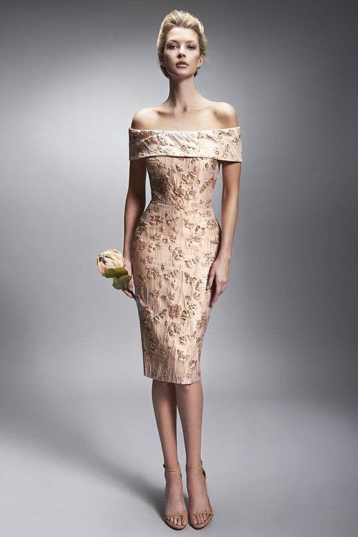47cbaa4b49 Nicole Bakti Off The Shoulder Embellished Midi Dress in 2019 ...