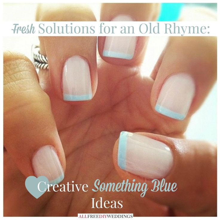 This is absolutely amazing! Creative something blue ideas that no one else will have!!