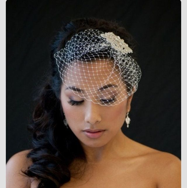 Birdcage veil, love these & so easy to make!