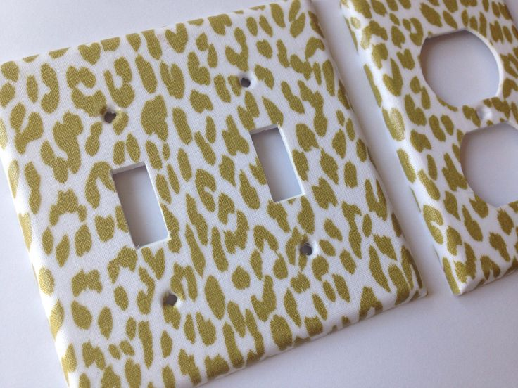Gold Leopard Double Light Switch Plate Cover Outlets / Gold Home Decor / Gold Bedroom Decor / Gold Nursery Decor / Baby Gift / Animal Print by COUTURELIGHTPLATES on Etsy https://www.etsy.com/listing/246078750/gold-leopard-double-light-switch-plate