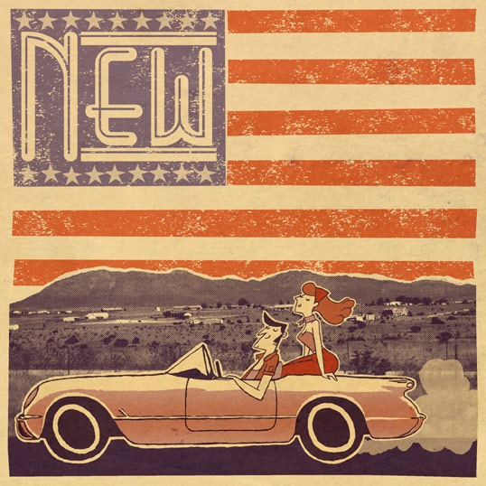The new '53. A retro illustration by Katie Hanratty.