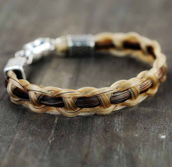 Horsehair Bracelet Braided Horse Hair Jewelry Lover Gifts Equestrian Shadow Woven Diy Jewlery Pinterest
